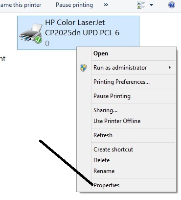 HP CP2025dn Wont Print In Color 1